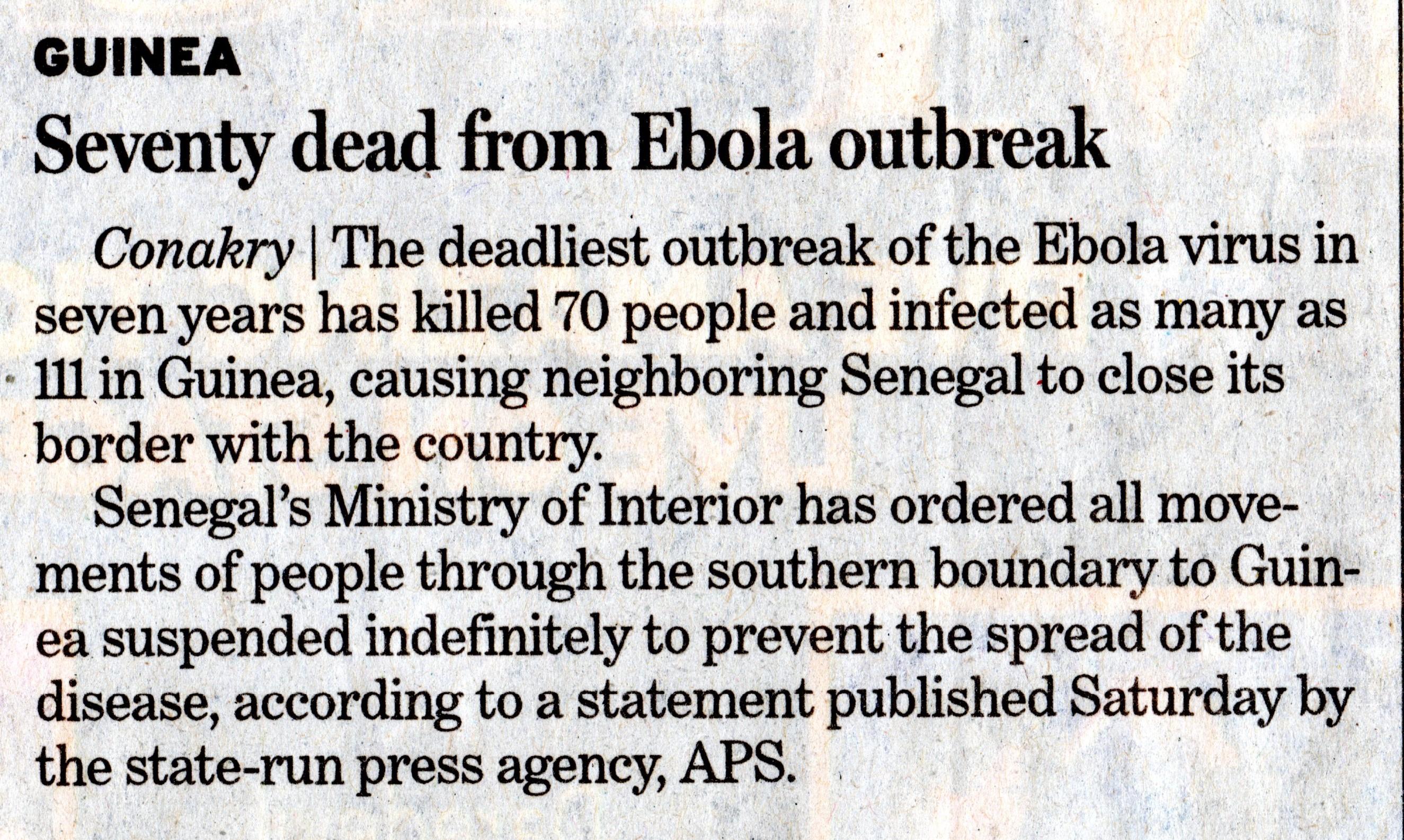 Guinea Ebola Outbreak 2014001