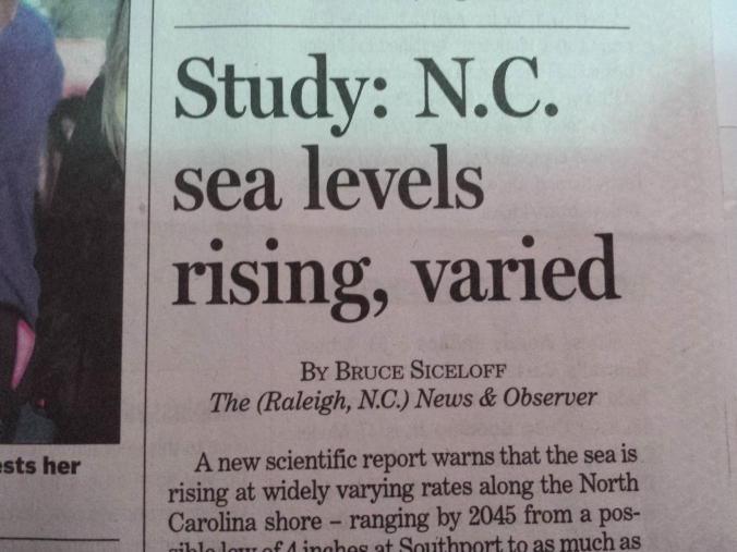 Sea Levels Rising-NC
